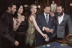 Diamond Roulette by Vincent Kamp - Stretch Canvas sized 54x36 inches. Available from Whitewall Galleries